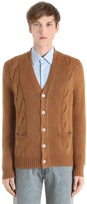 Gucci Reversible Wool Knit & Silk Cardigan