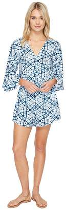 Seafolly Shibori Playsuit Cover-Up Women's Swimsuits One Piece