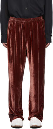 Our Legacy Red Velvet Sidestripe Lounge Pants