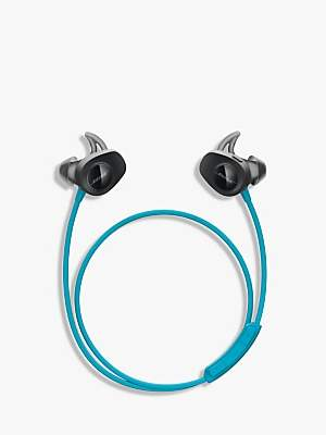Bose SoundSportTM Sweat & Weather-Resistant Wireless In-Ear Headphones With Bluetooth/NFC, 3-Button In-Line Remote and Carry Case