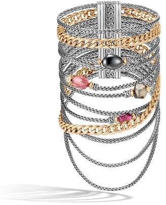 John Hardy Aaxjh Classic Chain Multi Row Bracelet With Gemstone