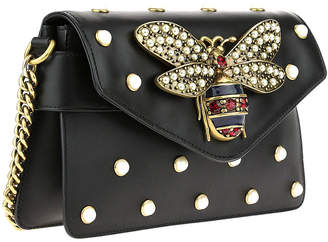 Gucci Black Calfskin Leather Broadway Mini Shoulder Bag