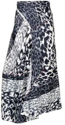 Victoria Beckham leopard print midi skirt