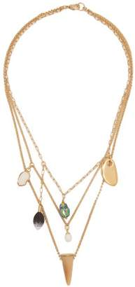 Isabel Marant Scarabe Charm Necklace - Womens - Multi