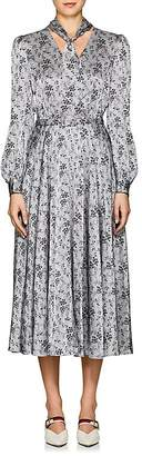 Co Women's Floral Striped Silk Charmeuse Dress