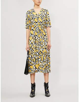 Gestuz Irina leopard-print satin midi dress