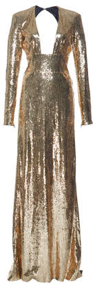 Dundas Long Sleeve Sequin Gown