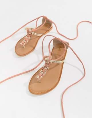 Asos DESIGN Fenton plaited flat sandals