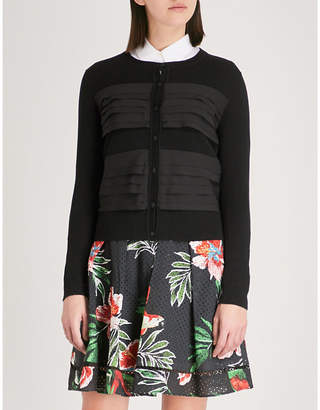 Claudie Pierlot Tiered-trim cotton cardigan