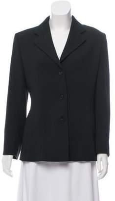 Prada Structured Fleece Blazer Green Structured Fleece Blazer
