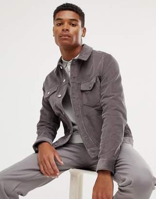 Asos Design DESIGN cord jacket in grey