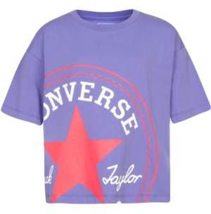 Converse Big Girls Cotton Chuck Taylor Logo T-Shirt