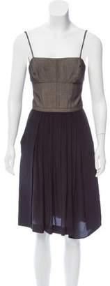 Narciso Rodriguez Two-Tone Sleeveless Dress