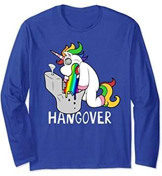 Funny Unicorn Hangover Rainbow Long Sleeve Shirt