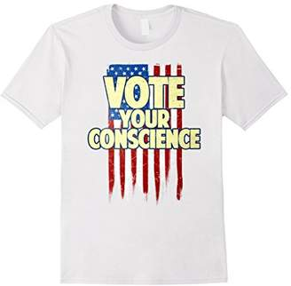 Vote Your Conscience American Flag T-Shirt