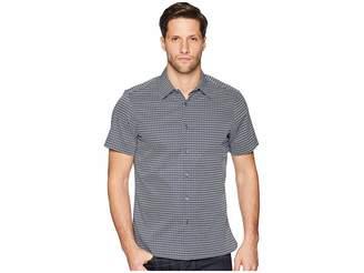 Perry Ellis Mini Geo Print Short Sleeve Button Down Shirt