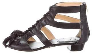 O Jour Leather Lace-Up Sandals