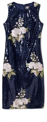 Vince Camuto Sequin Embroidered Sheath
