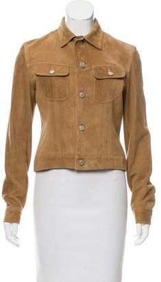 Ralph Lauren Button-Up Suede Jacket