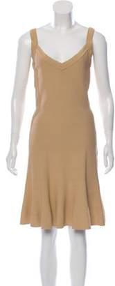 Alaà ̄a Fit and Flare Bandage Dress Tan Alaà ̄a Fit and Flare Bandage Dress