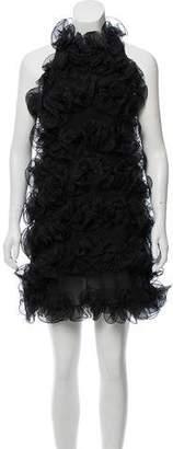 Emporio Armani Sleeveless Ruffled Dress