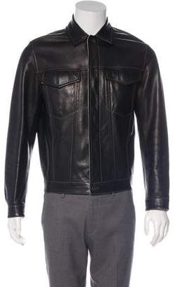 Hermes Leather Casual Jacket