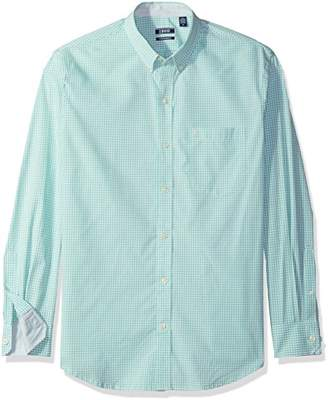Izod Men's Premium Performance Natural Stretch Gingham Long Sleeve Shirt (Regular and Slim Fit)