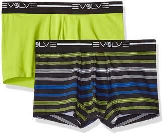 2xist Evolve Men's Cotton Stretch No Show Trunk Underwear Multipack Underwear
