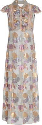 Anna Sui Bijou Roses Lurex Jacquard Dress