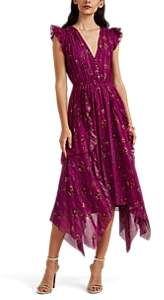 Ulla Johnson Women's Ciel Floral Silk Dress - Md. Pink