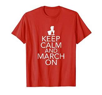Marching Band Music Keep Calm March On T-shirt