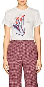 "Monogram Women's ""Can't Fake The Feeling"" Cotton-Blend T-Shirt-White"