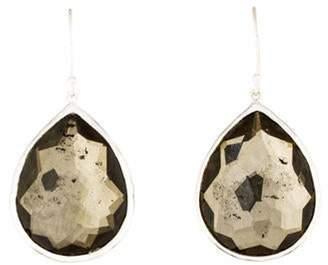 Ippolita Quartz & Pyrite Large Teardrop Earrings silver Quartz & Pyrite Large Teardrop Earrings