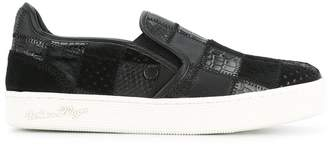 White Flags Whiteflags patchwork slip-on sneakers