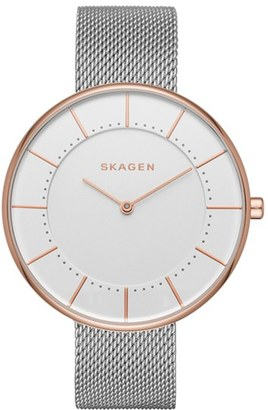 Skagen Gitte Round Mesh Strap Watch, 38mm $115 thestylecure.com