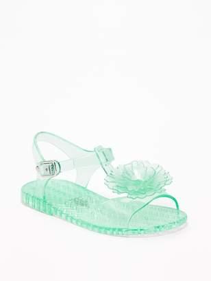 Old Navy Flower Jelly Sandals for Toddler Girls