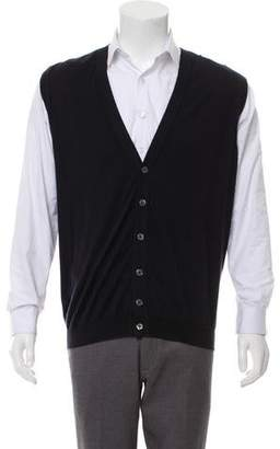 Kiton Cashmere and Silk-Blend Sweater Vest