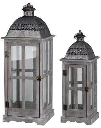 A&B Home Urban Scape Lanterns, Set of 2