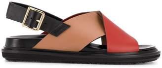 Marni contrast panels Fussbett sandals