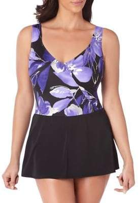 Longitude Cala Luna Mock Surplice Swimdress