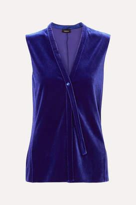 Akris Stretch-velvet Top - Blue