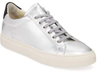 Common Projects Men's Retro Low Metallic Leather Sneakers