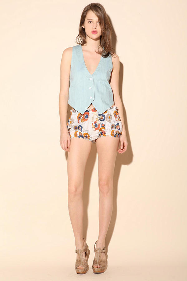 Le Mont St. Michel Printed Bloomer Short