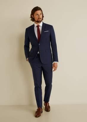 MANGO MAN - Regular fit cotton Tailored shirt white - XXS - Men