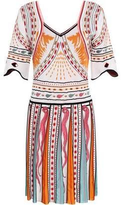 Roberto Cavalli Jacquard-knit Mini Dress