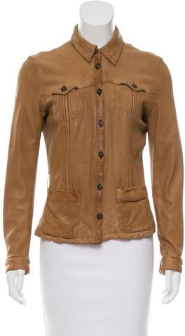 pradaPrada Lightweight Leather Jacket