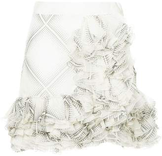 Giambattista Valli flamenco-style short ruffle skirt