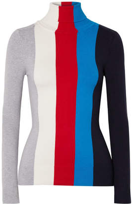 JoosTricot - Striped Cotton-blend Turtleneck Sweater - Red