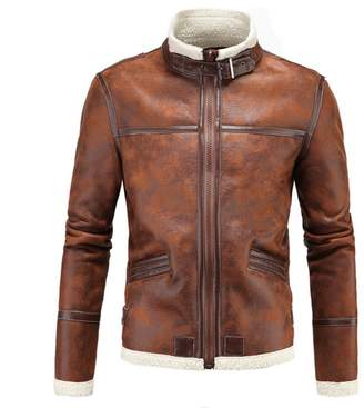 2047356df9cb at Amazon Canada · WSLCN Mens Vintage Moto Jacket Faux Leather Biker Jacket  Coat Zip Jacket Col Mao CA 4XL