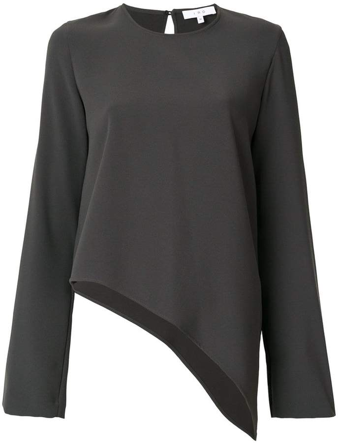 IRO flared asymmetric blouse